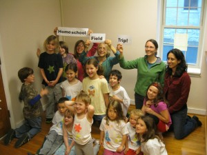 Home Schoolers hold a class at Shenandoah Moon